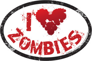 ZMB507 I Love Zombies